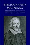 Eric H. Cossee over: Bibliographia sociniana; a bibliographical reference tool for the study of Dutch Socinianism and Antitrinitarianism - door Philip Knijff & Sibbe Jan Visser (compiled), Piet Visser (ed.)