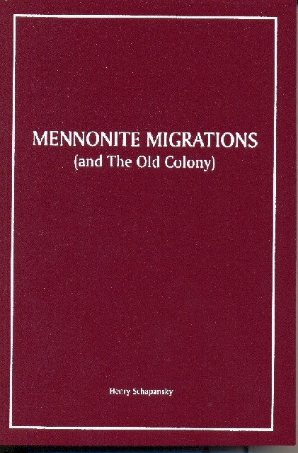 Piet Visser over: The Mennonite Migrations (and the Old Colony, Russia) - door Henry Schapansky
